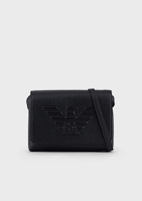 Mini shoulder bag with maxi logo