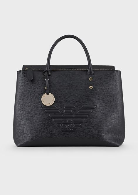 Handbag with maxi logo