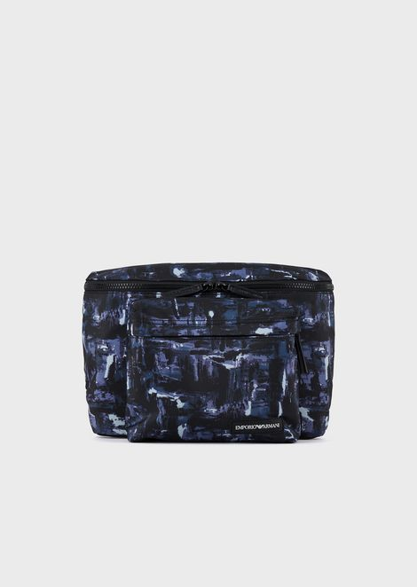 Nylon watercolour belt bag