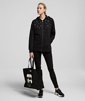 KARL LAGERFELD K/IKONIK CANVAS TOTE BAG