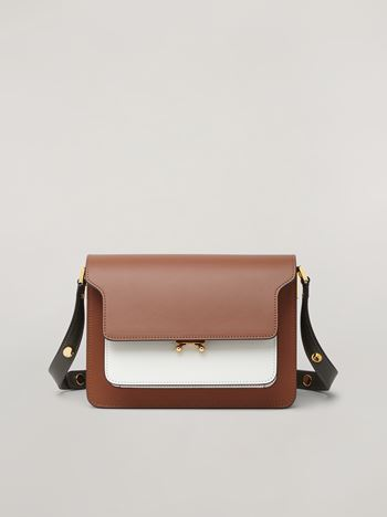 Marni TRUNK bag in three-coloured calfskin Woman f
