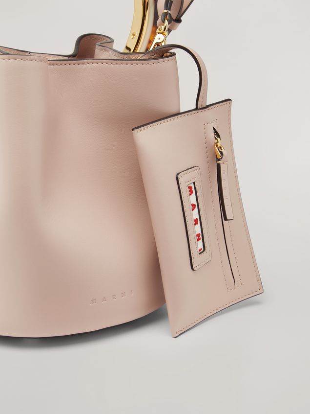 Marni PANNIER bag in pink calfskin with design handle Woman - 5