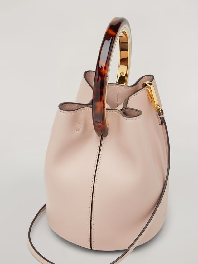 Marni PANNIER bag in pink calfskin with design handle Woman - 4