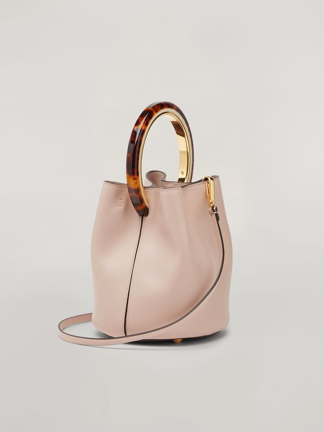 Marni PANNIER bag in pink calfskin with design handle Woman - 3