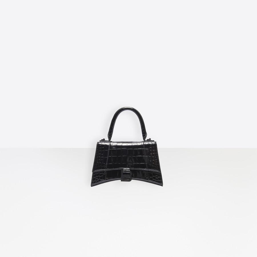 Hourglass XS Top Handle Bag Black for