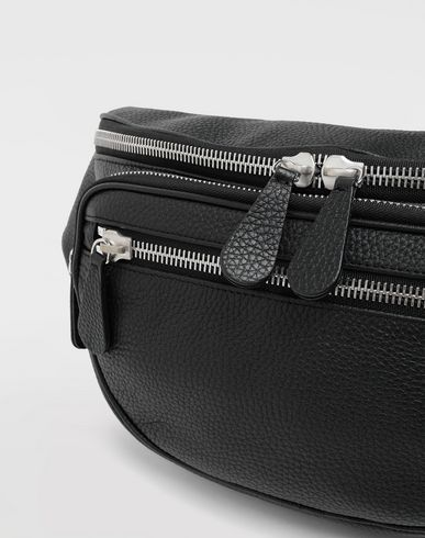 BAGS Leather bumbag Black