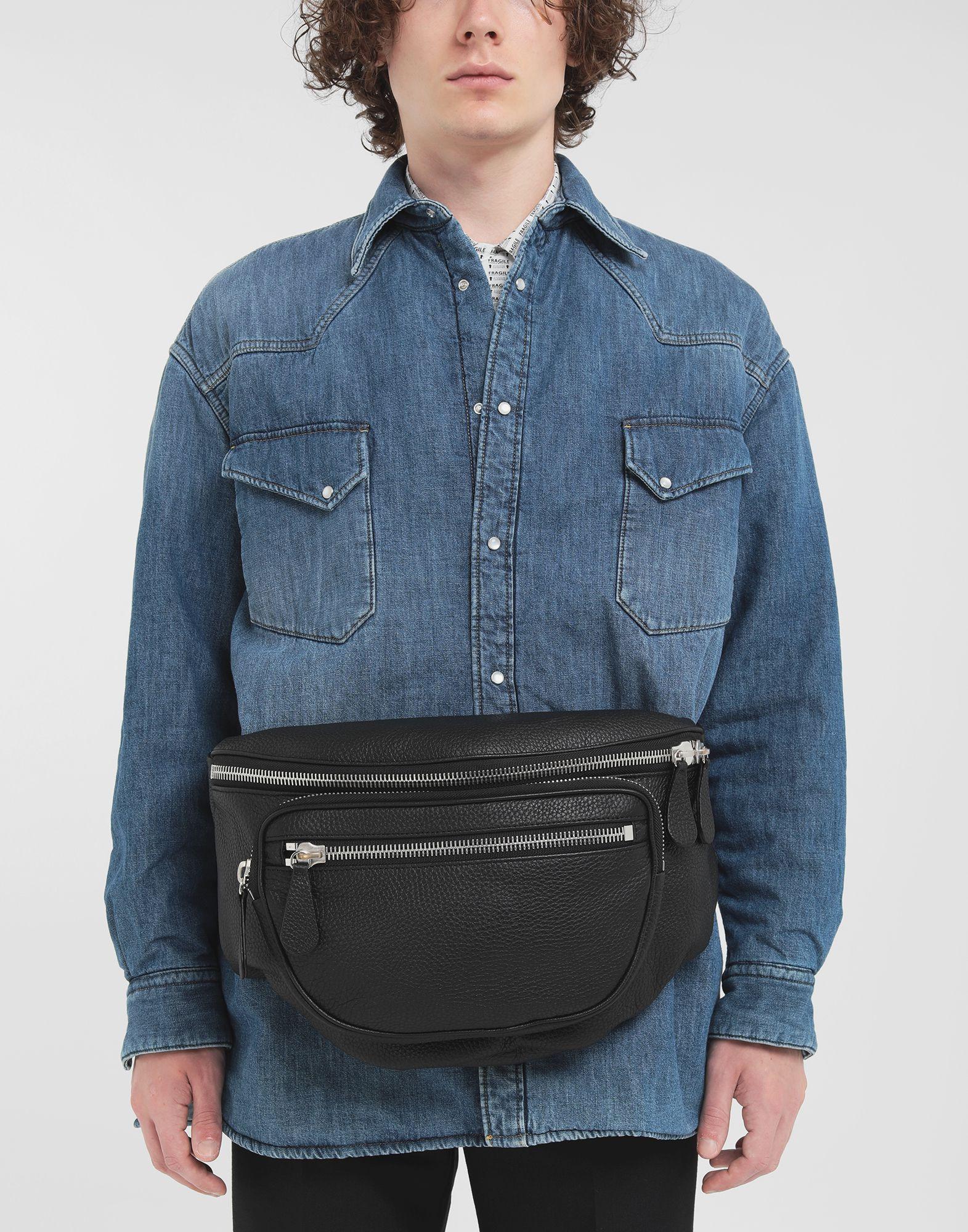 MAISON MARGIELA Leather bumbag Fanny pack Man r