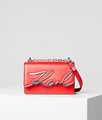 KARL LAGERFELD K/SIGNATURE SMALL SHOULDER BAG