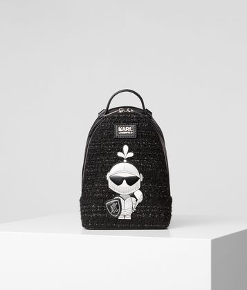 KARL LAGERFELD K/TREASURE TWEED BACKPACK