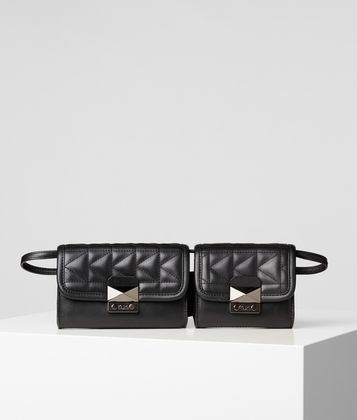 KARL LAGERFELD K/KUILTED DOUBLE BAG