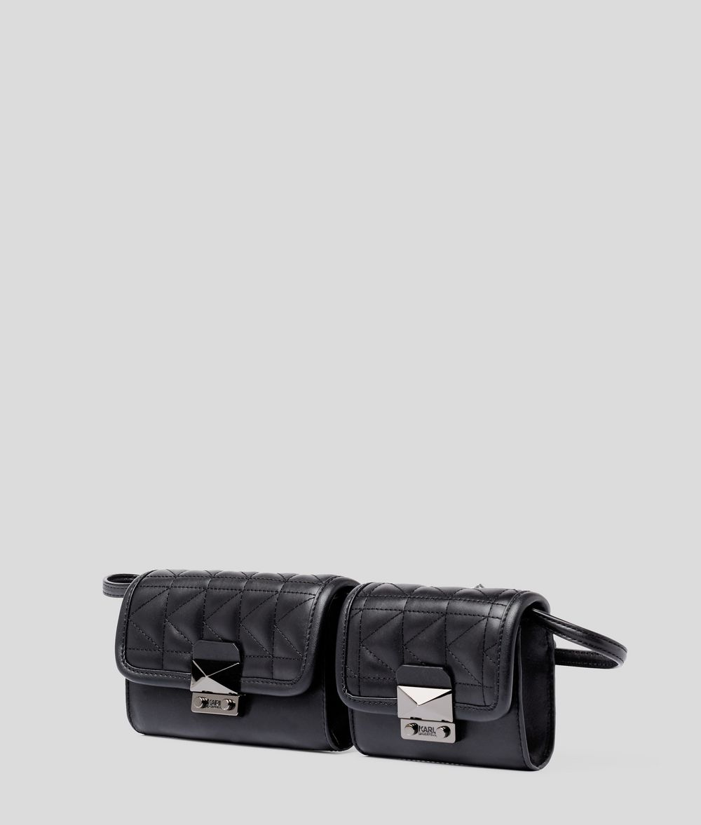 KARL LAGERFELD K/Kuilted Double Bag Fanny pack Woman d