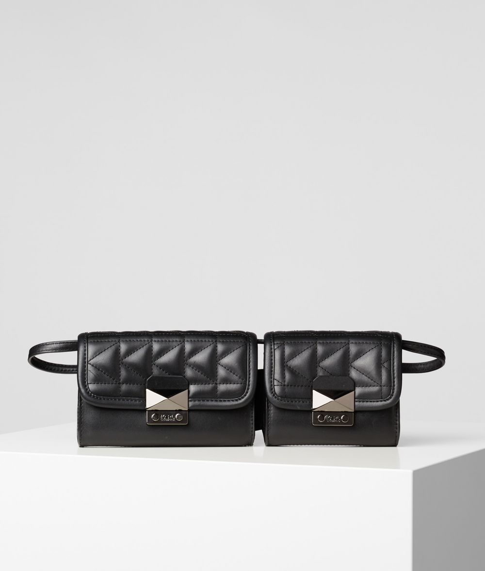 KARL LAGERFELD K/Kuilted Double Bag Fanny pack Woman f