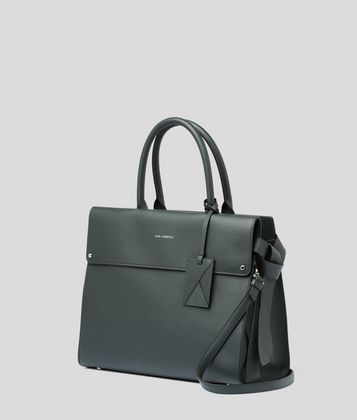 KARL LAGERFELD K/IKON TOP HANDLE BAG