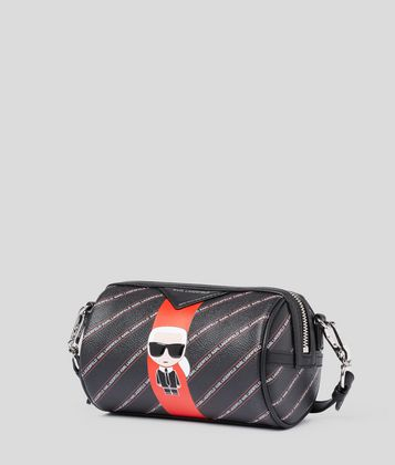 KARL LAGERFELD K/STRIPE IKONIK BARREL BAG