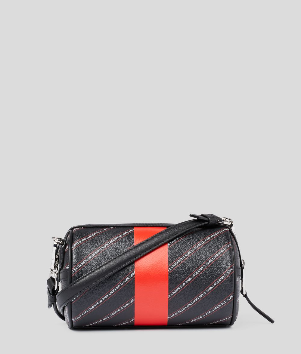 KARL LAGERFELD K/Stripe Ikonik Barrel Bag Crossbody Bag Woman d
