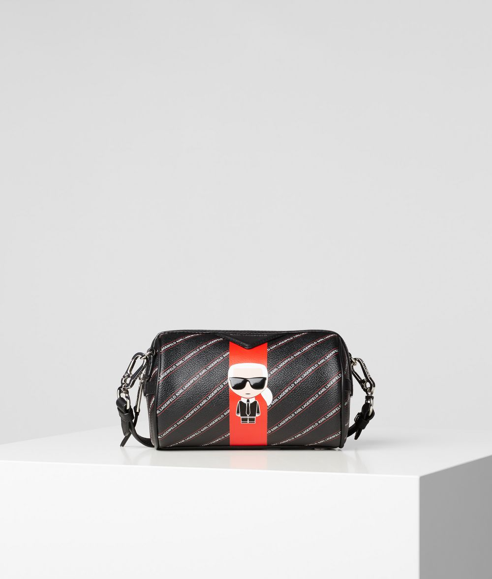 KARL LAGERFELD K/Stripe Ikonik Barrel Bag Crossbody Bag Woman f