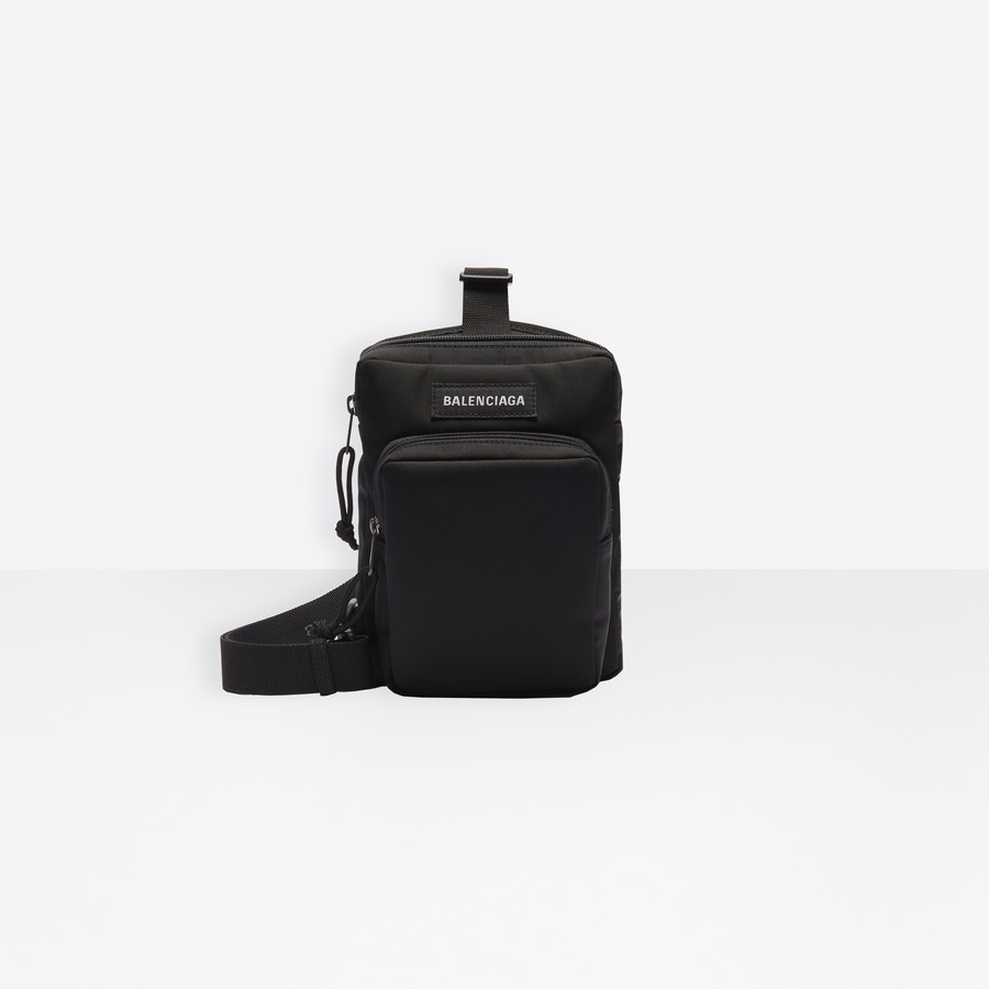Explorer Crossbody Messenger Bag Black
