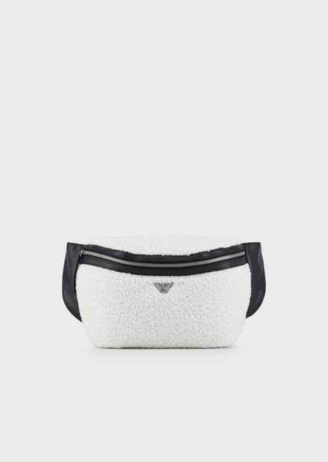 Faux bouclé sheepskin belt bag