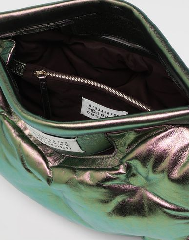 BAGS Glam Slam metallic medium clutch Green