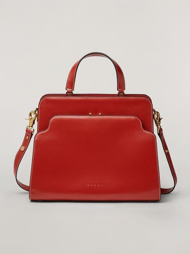 Marni TRUNK REVERSE handbag in nappa calfskin Woman - 1