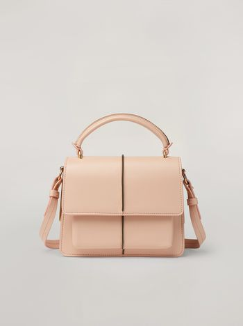 Marni ATTACHE' crossbody minibag in smooth calf pink Woman f