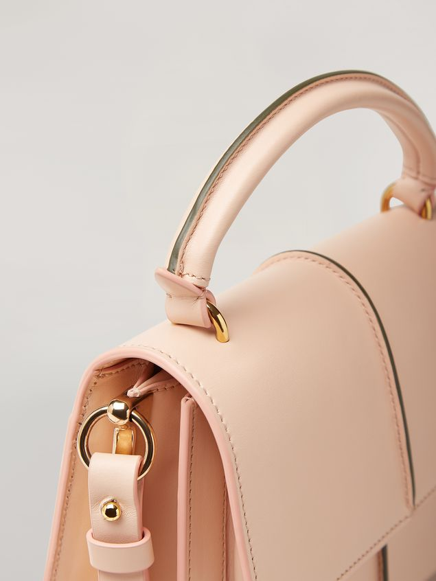 Marni ATTACHE' crossbody minibag in smooth calf pink Woman - 5