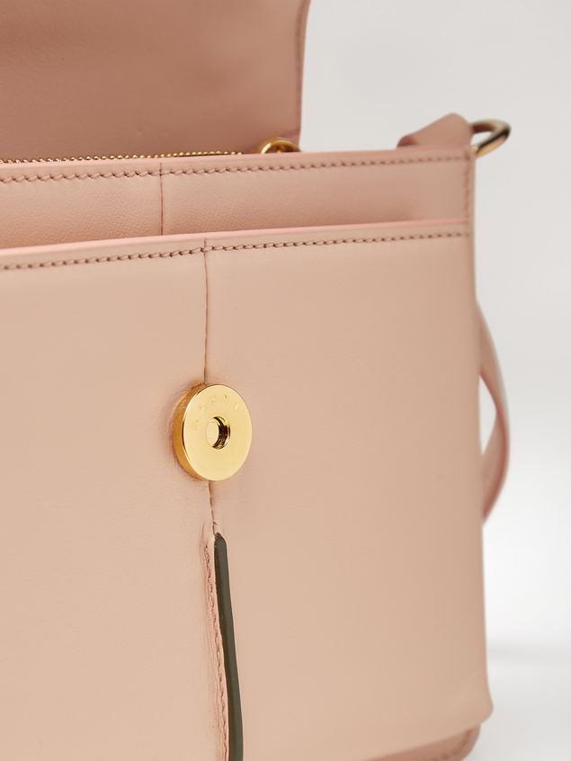 Marni ATTACHE' crossbody minibag in smooth calf pink Woman - 4