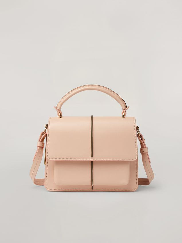 Marni ATTACHE' crossbody minibag in smooth calf pink Woman - 1