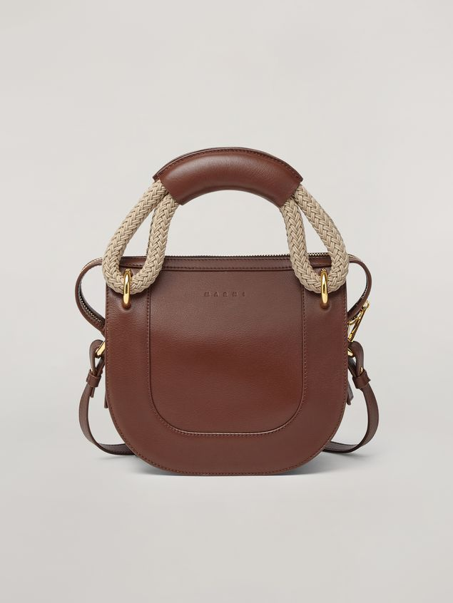 Marni BONNIE handbag in calf with leather and rope handle Woman - 1