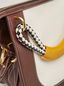 Marni BONNIE handbag in calf with leather and diamond-patterned rope handle Woman - 4