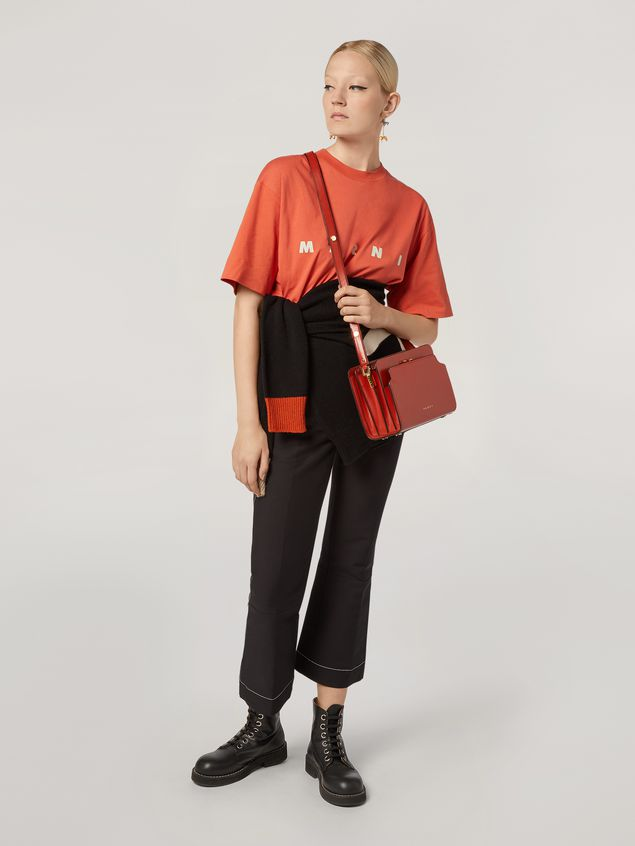 Marni TRUNK REVERSE shoulder bag in red nappa calfskin Woman - 2