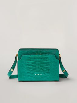 Marni TRUNK REVERSE shoulder bag in lizard-print calfskin Woman