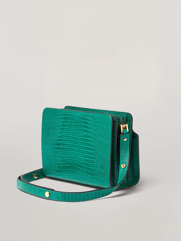 Marni TRUNK REVERSE shoulder bag in lizard-print calf Woman