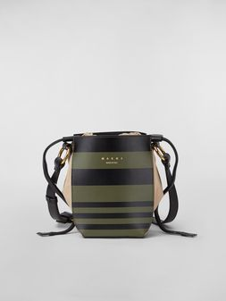 Marni Borsa a spalla GUSSET WANDERING IN STRIPES in vitello e nappa piccola Donna