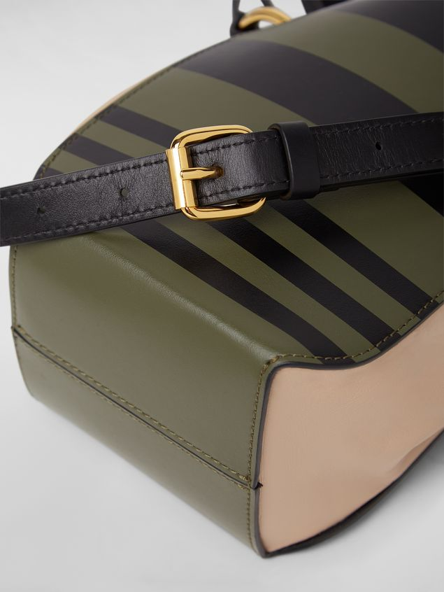 Marni Small WANDERING IN STRIPES GUSSET shoulder bag in calfskin and nappa Woman - 5