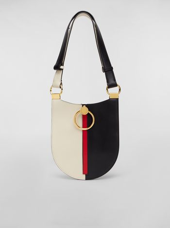 Marni Small EARRING hobo bag in smooth calfskin Woman f