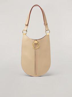 Marni EARRING bellows bag in smooth calfskin Woman