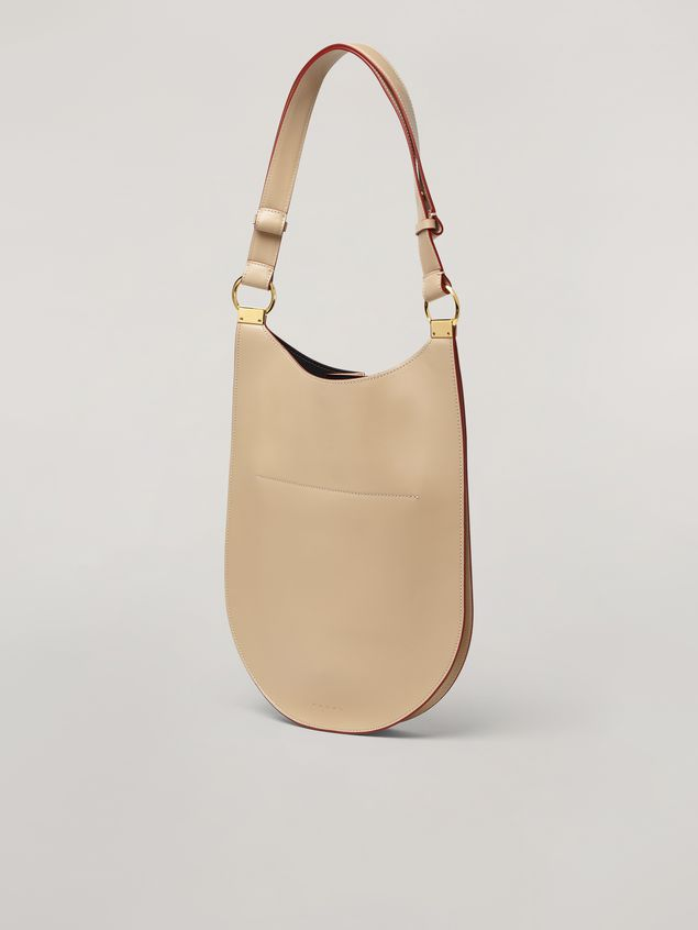 Marni EARRING bellows bag in smooth calfskin Woman