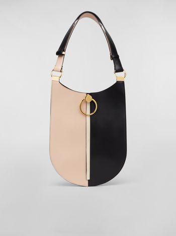 Marni Large EARRING hobo bag in smooth calfskin Woman f
