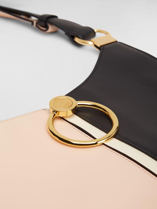 Marni Large EARRING hobo bag in smooth calfskin Woman - 4