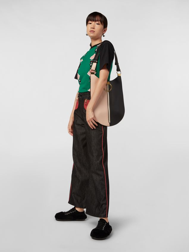 Marni Large EARRING hobo bag in smooth calfskin Woman - 2