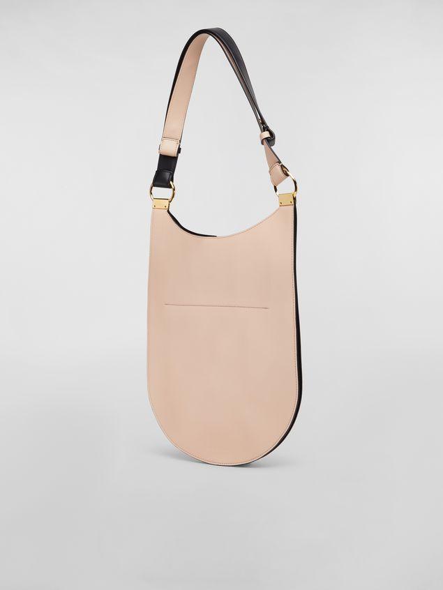 Marni Large EARRING hobo bag in smooth calfskin Woman - 3