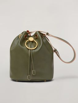 Marni EARRING bucket bag in smooth calfskin Woman