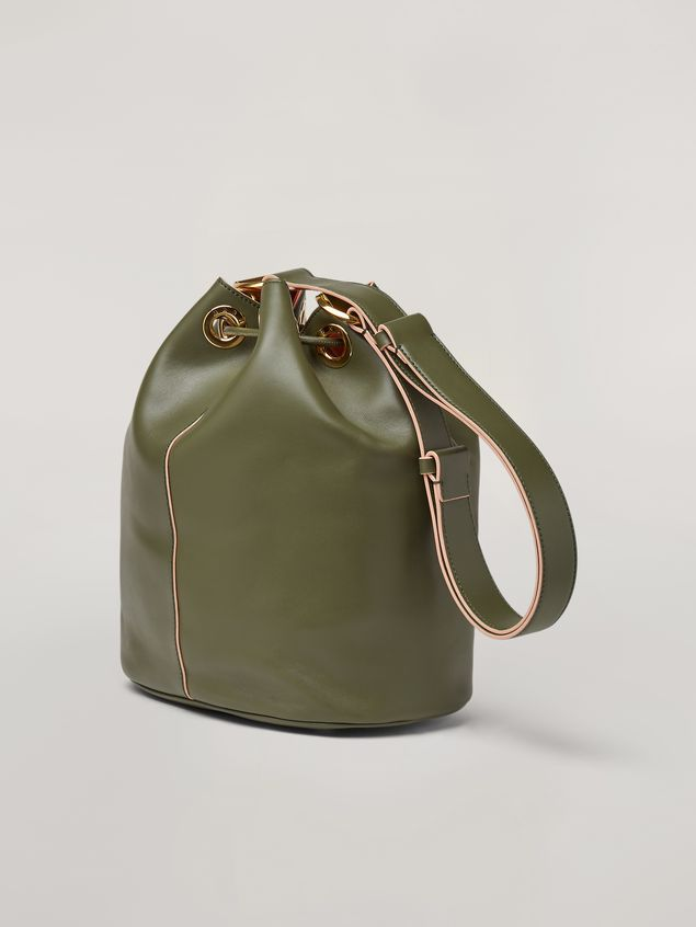 Marni EARRING bucket bag in smooth calfskin Woman