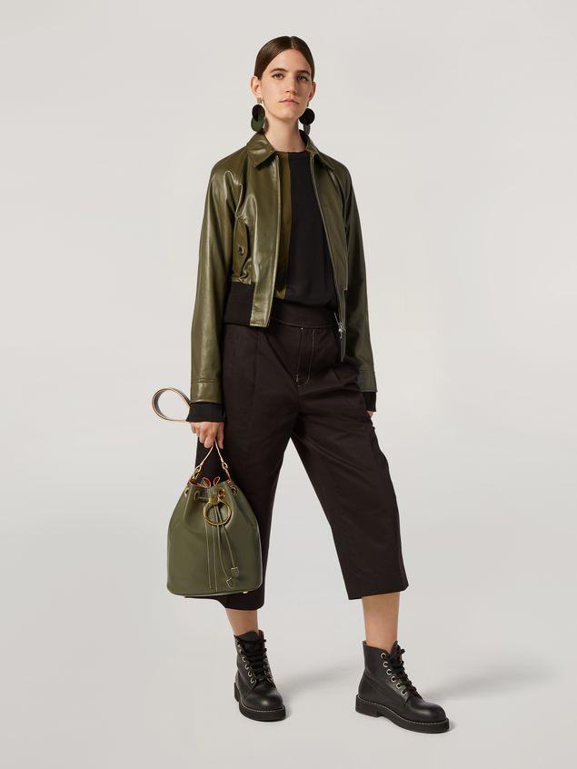 Marni EARRING bucket bag in smooth calfskin Woman - 2