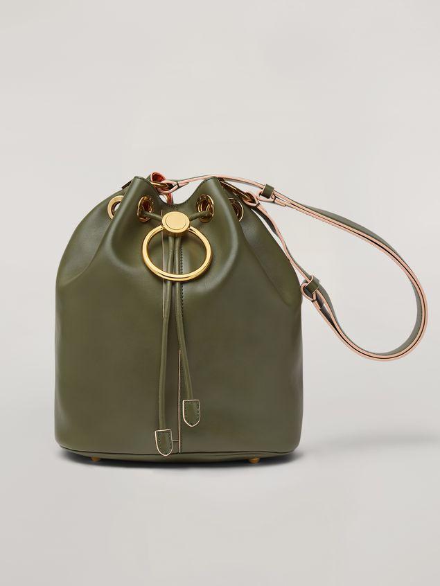 Marni EARRING bucket bag in smooth calfskin Woman - 1