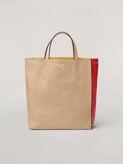 Marni Tasche MUSEO SOFT aus Kalbsleder in Weiß, Rot und Rosa  Damen