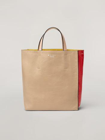 Marni Tasche MUSEO SOFT aus Kalbsleder in Weiß, Rot und Rosa  Damen f
