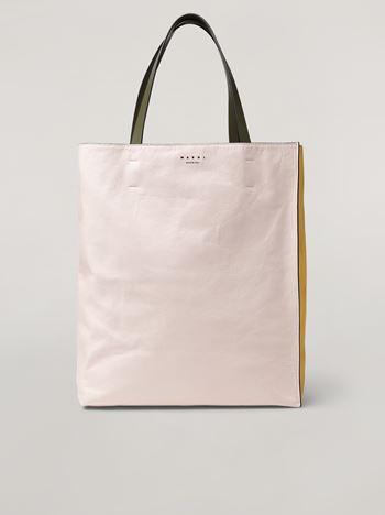 Marni Tasche MUSEO SOFT aus Kalbsleder in Weiß, Gelb und Grün Damen f
