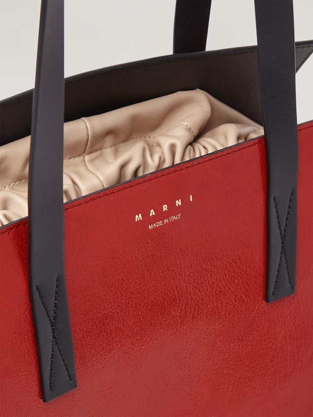 Marni GUSSET shopping bag in grained calf and nappa Woman - 4